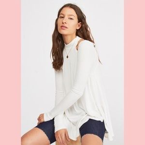 FREE PEOPLE IVORY DOWNTOWN TUNIC NWT